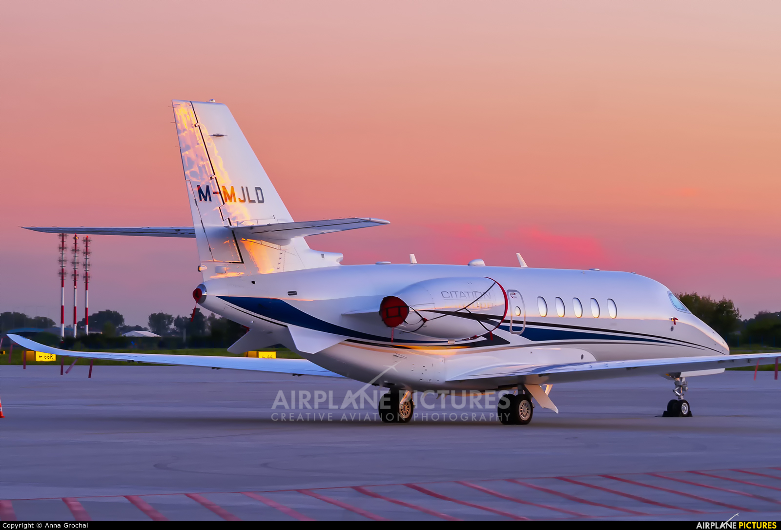 Private M-MJLD aircraft at Warsaw - Frederic Chopin