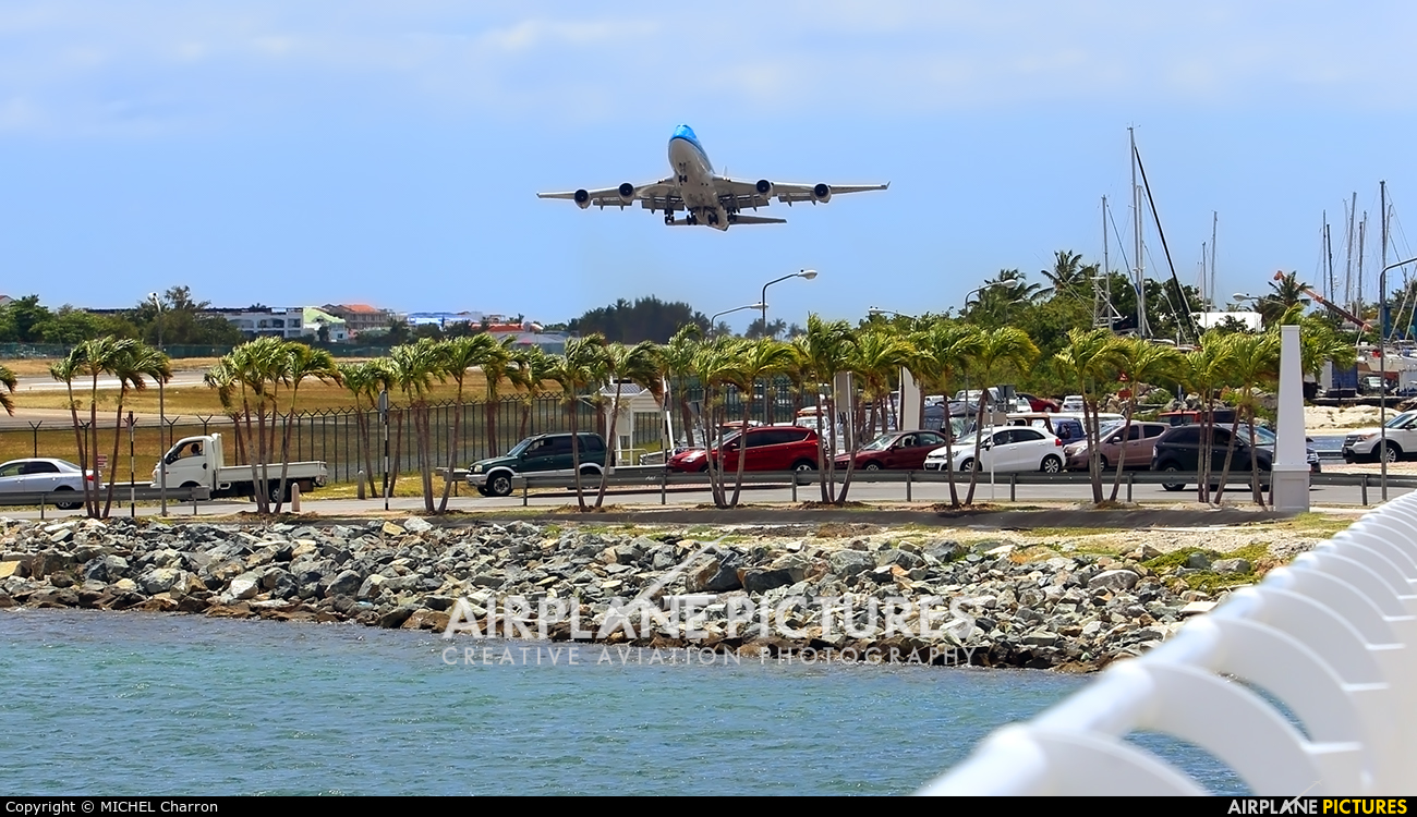 KLM Asia PH-BFY aircraft at Sint Maarten - Princess Juliana Intl