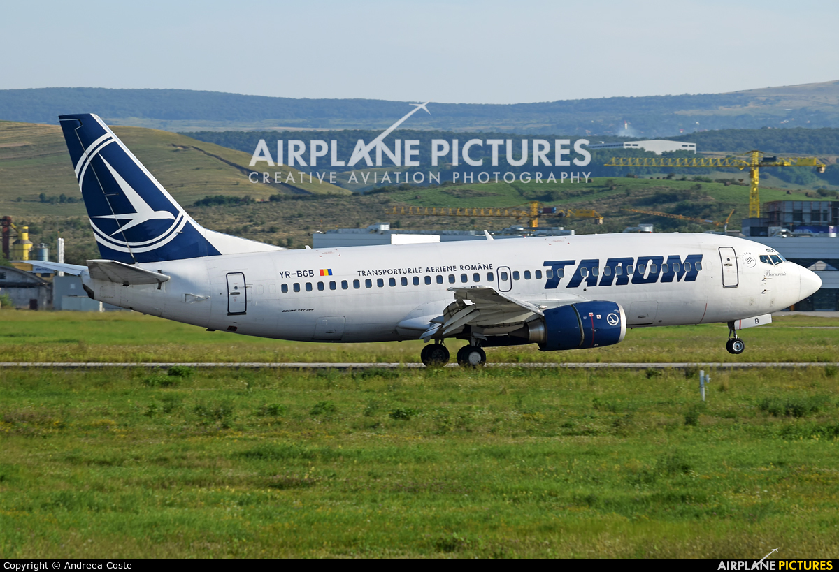 Tarom YR-BGB aircraft at Cluj Napoca - Someseni