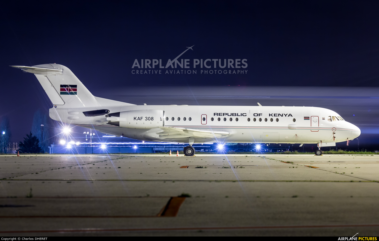 Kenya - Government KAF308 aircraft at Paris - Charles de Gaulle