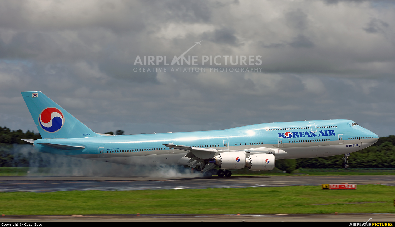 Korean Air HL7637 aircraft at Tokyo - Narita Intl