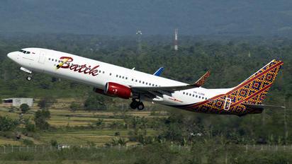 PK-LBM - Batik Air Boeing 737-900