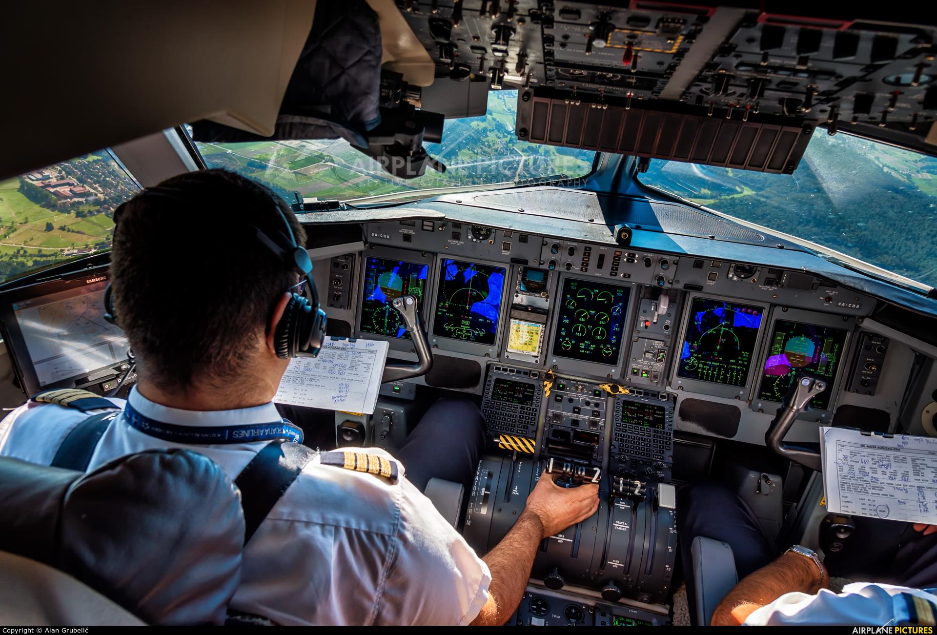 Croatia Airlines 9A-CQA aircraft at In Flight - Switzerland