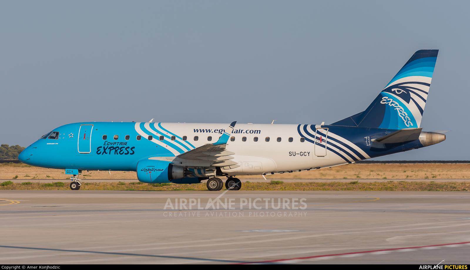 Egyptair Express SU-GCY aircraft at Athens - Eleftherios Venizelos