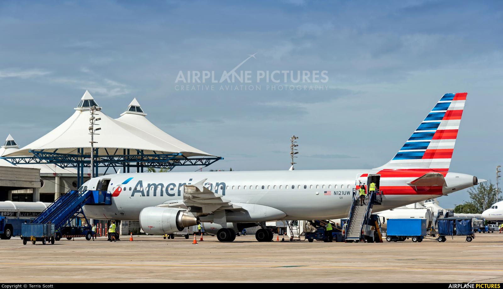 American Airlines N121UW aircraft at Bridgetown