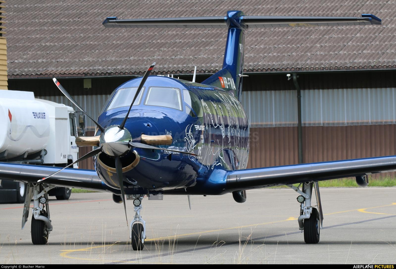 Pilatus HB-FWA aircraft at Buochs