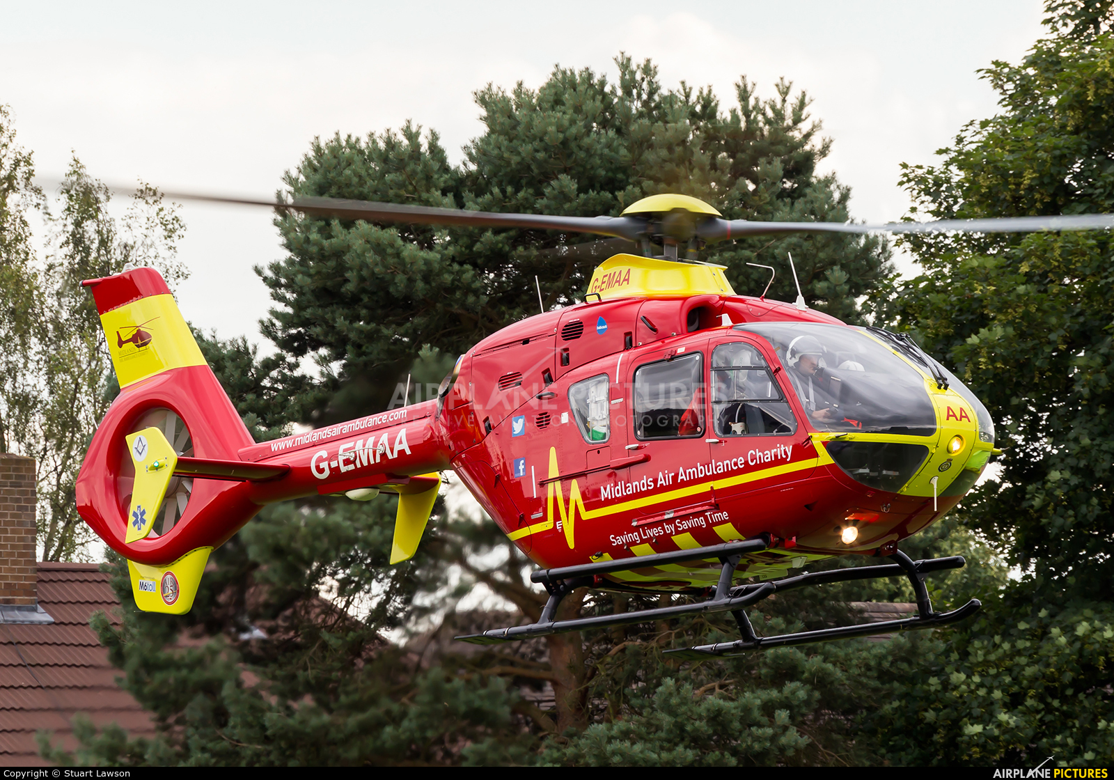 Midlands Air Ambulance G-EMAA aircraft at Unknown Location
