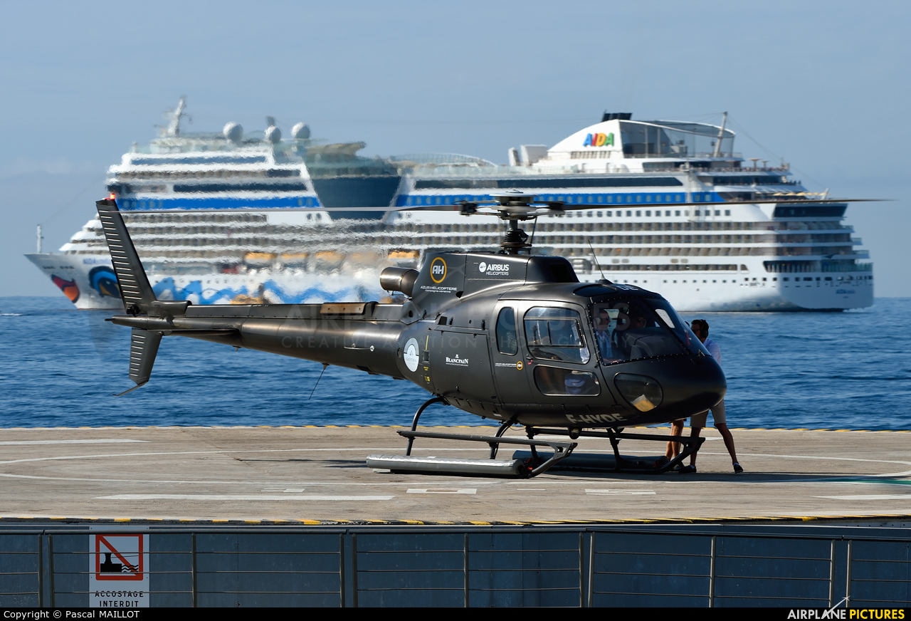 Azur Helicoptere F-HYDE aircraft at Cannes - Quai du large
