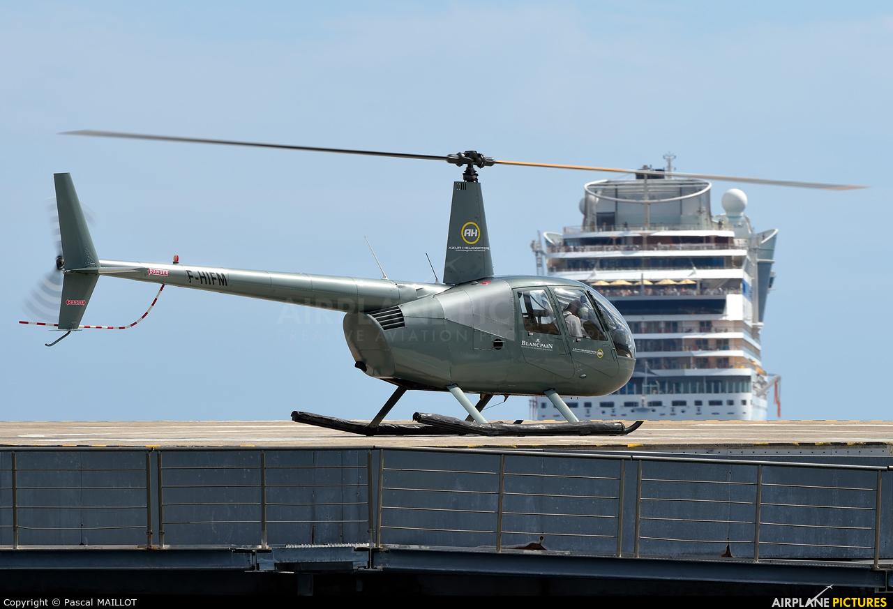 Azur Helicoptere F-HIFM aircraft at Cannes - Quai du large