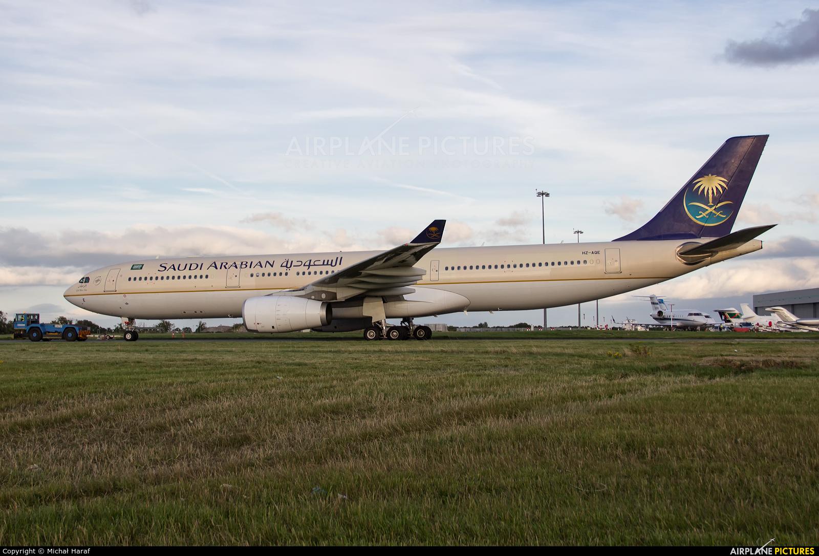 Saudi Arabian Airlines HZ-AQE aircraft at Dublin