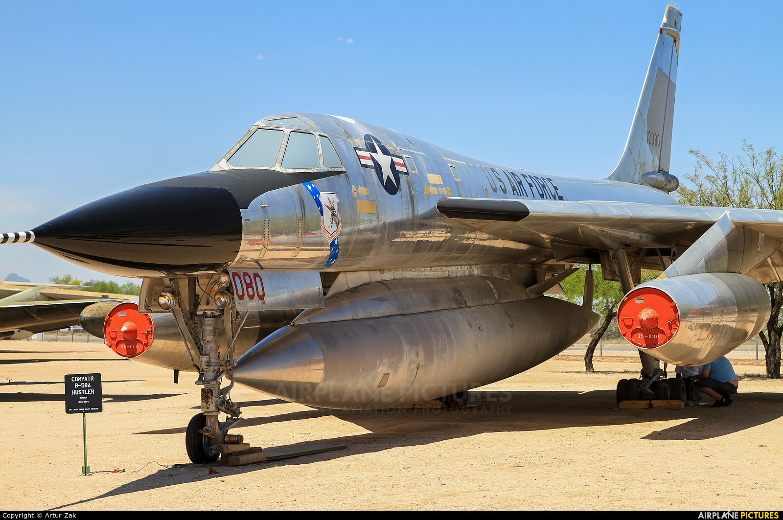 USA - Air Force 61-2080 aircraft at Tucson - Pima Air & Space Museum