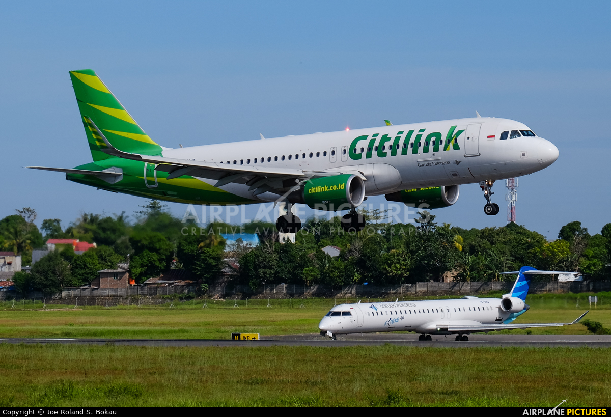 Citilink PK-GLZ aircraft at Off Airport - Indonesia