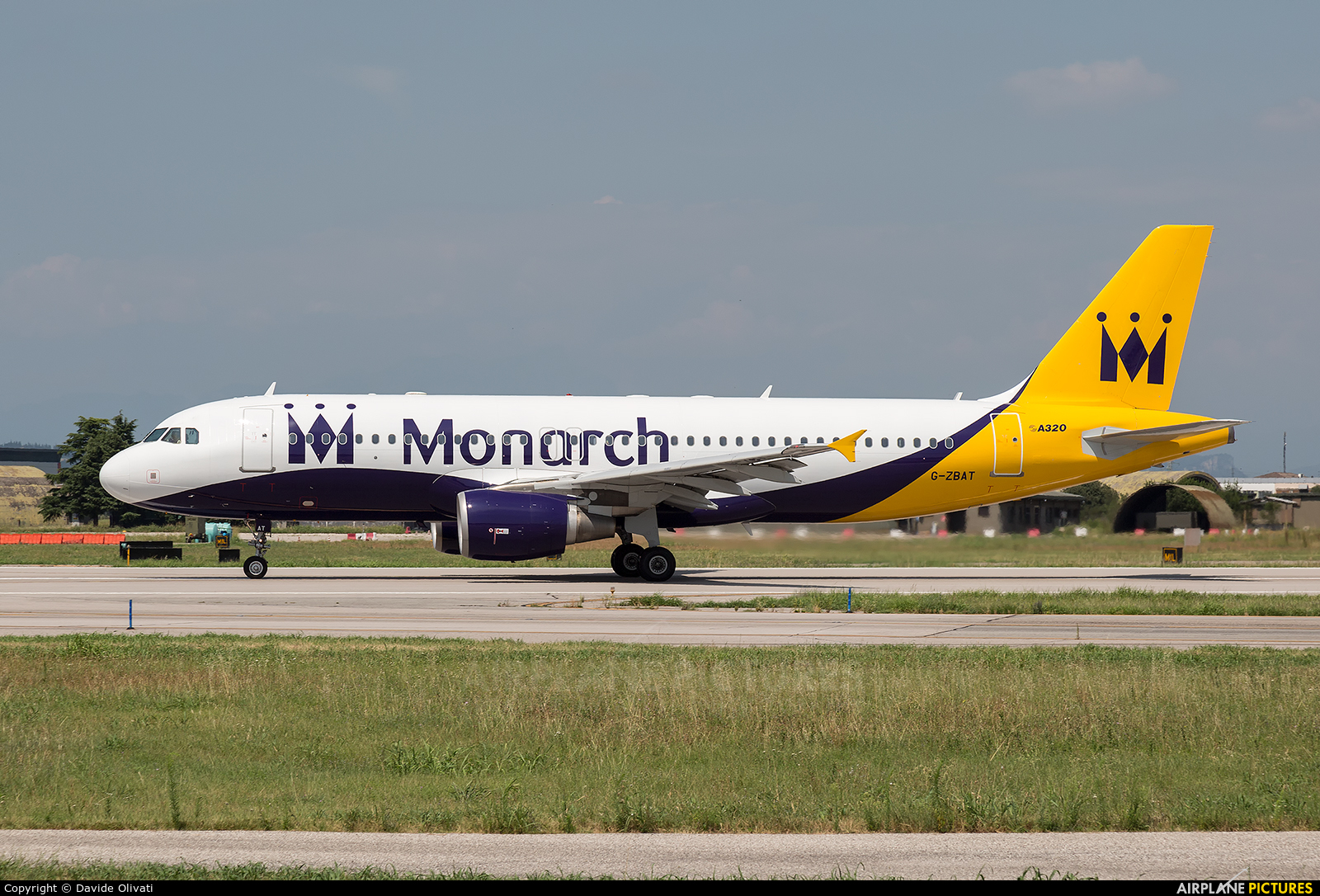 Monarch Airlines G-ZBAT aircraft at Verona - Villafranca