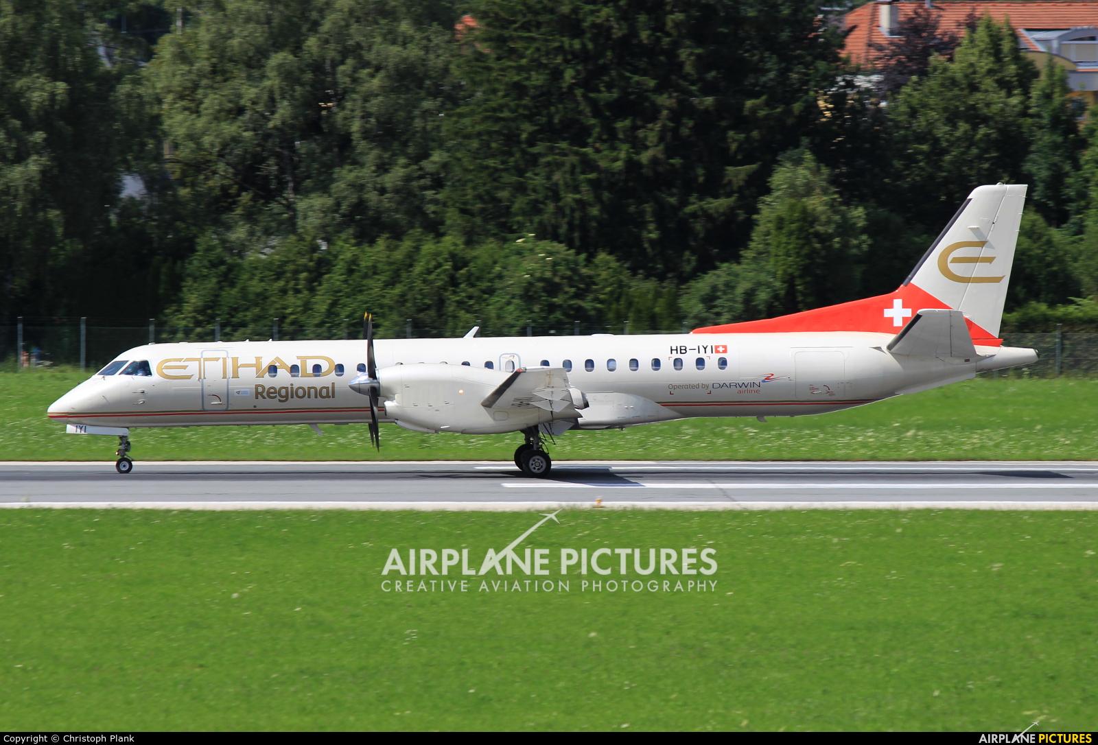 Etihad Regional - Darwin Airlines HB-IYI aircraft at Innsbruck