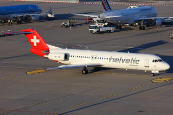 HB-JVE - Helvetic Airways Fokker 100