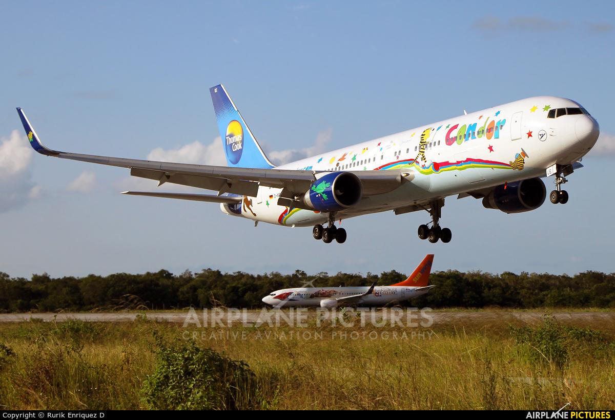 Condor D-ABUE aircraft at Cancun Intl