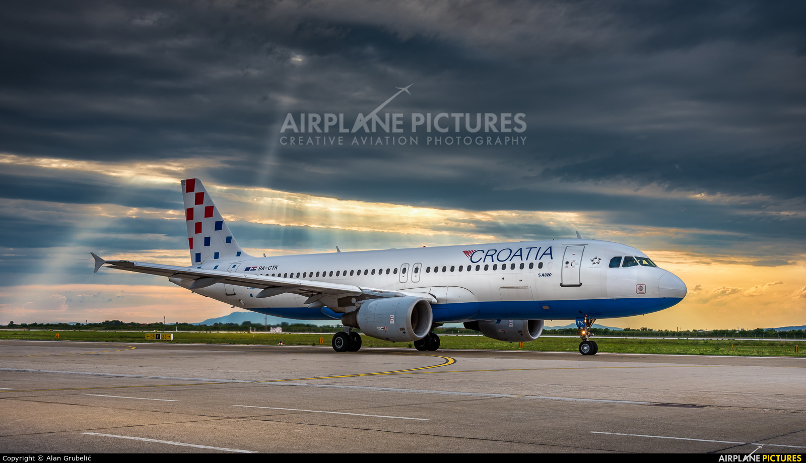 Croatia Airlines 9A-CTK aircraft at Zagreb