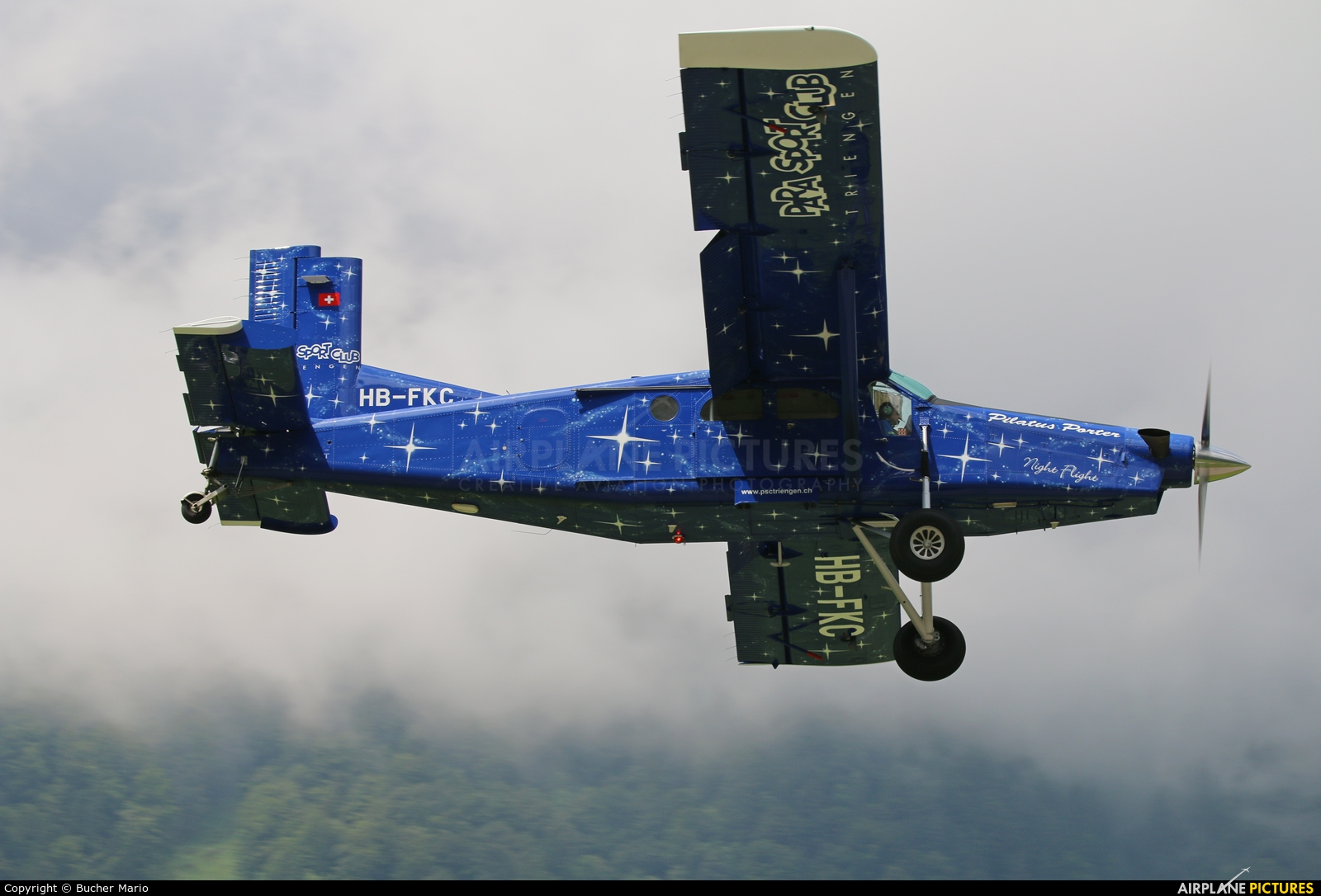 Private HB-FKC aircraft at Mollis