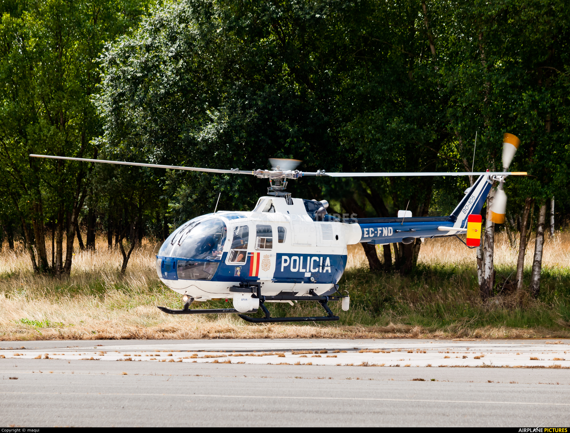 Spain - Police EC-FNO aircraft at Lugo - Rozas