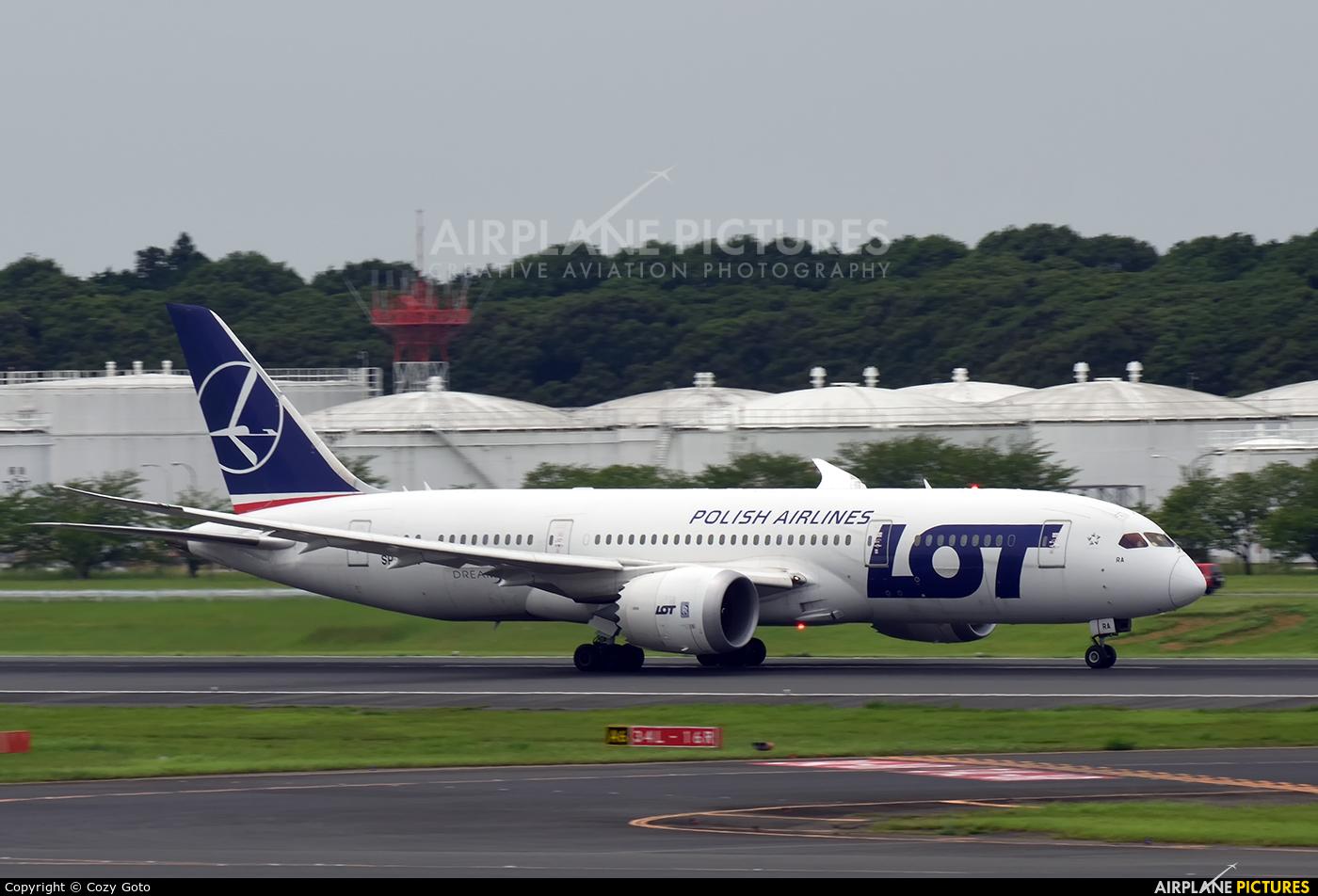 LOT - Polish Airlines SP-LRA aircraft at Tokyo - Narita Intl