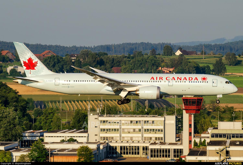 Air Canada C-FGFZ aircraft at Zurich