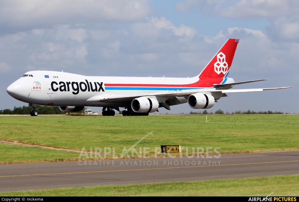 Cargolux LX-VCJ aircraft at East Midlands