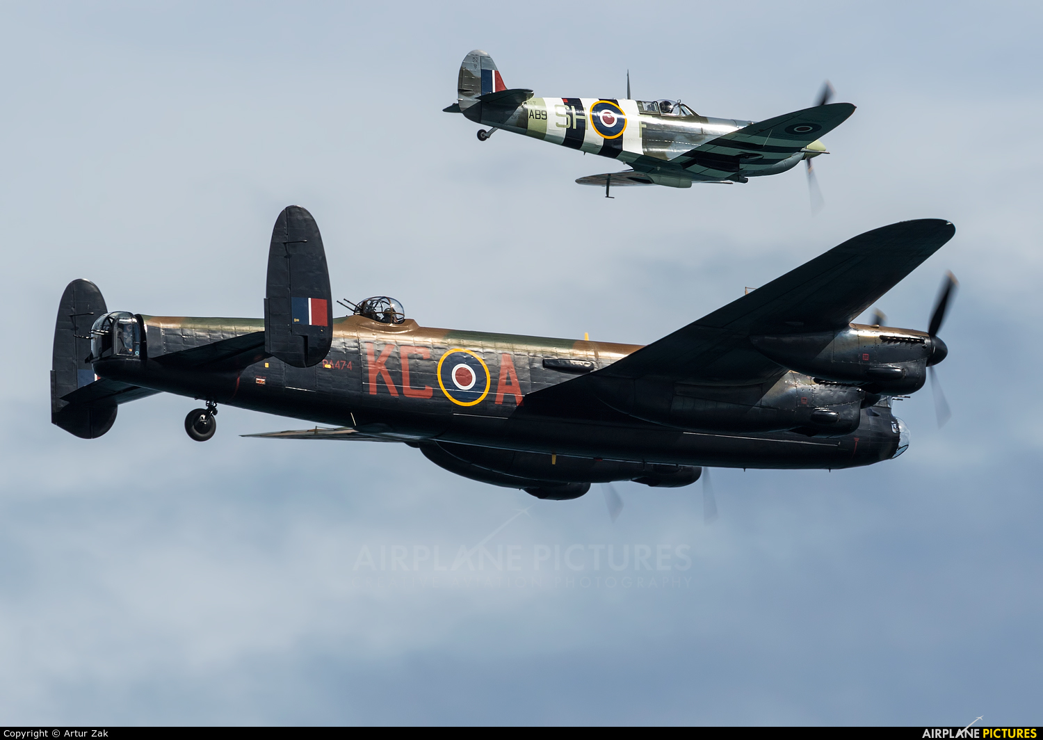 "Royal Air Force ""Battle of Britain Memorial Flight"" PA474 aircraft at Newcastle - Off Airport"