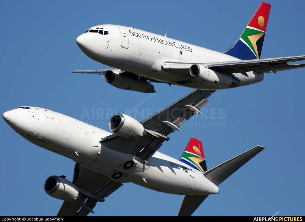 South African Cargo ZS-SIF aircraft at Ysterplaat - Cape Town
