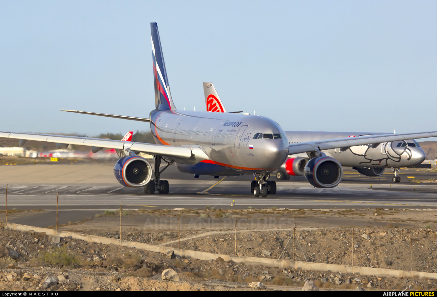 Aeroflot VQ-BBG aircraft at Tenerife Sur - Reina Sofia