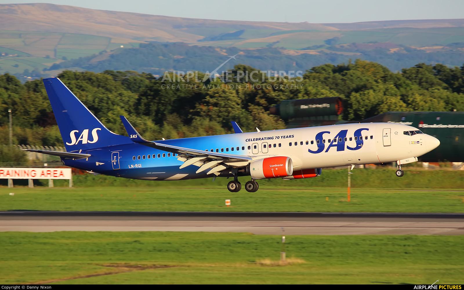 SAS - Scandinavian Airlines LN-RGI aircraft at Manchester