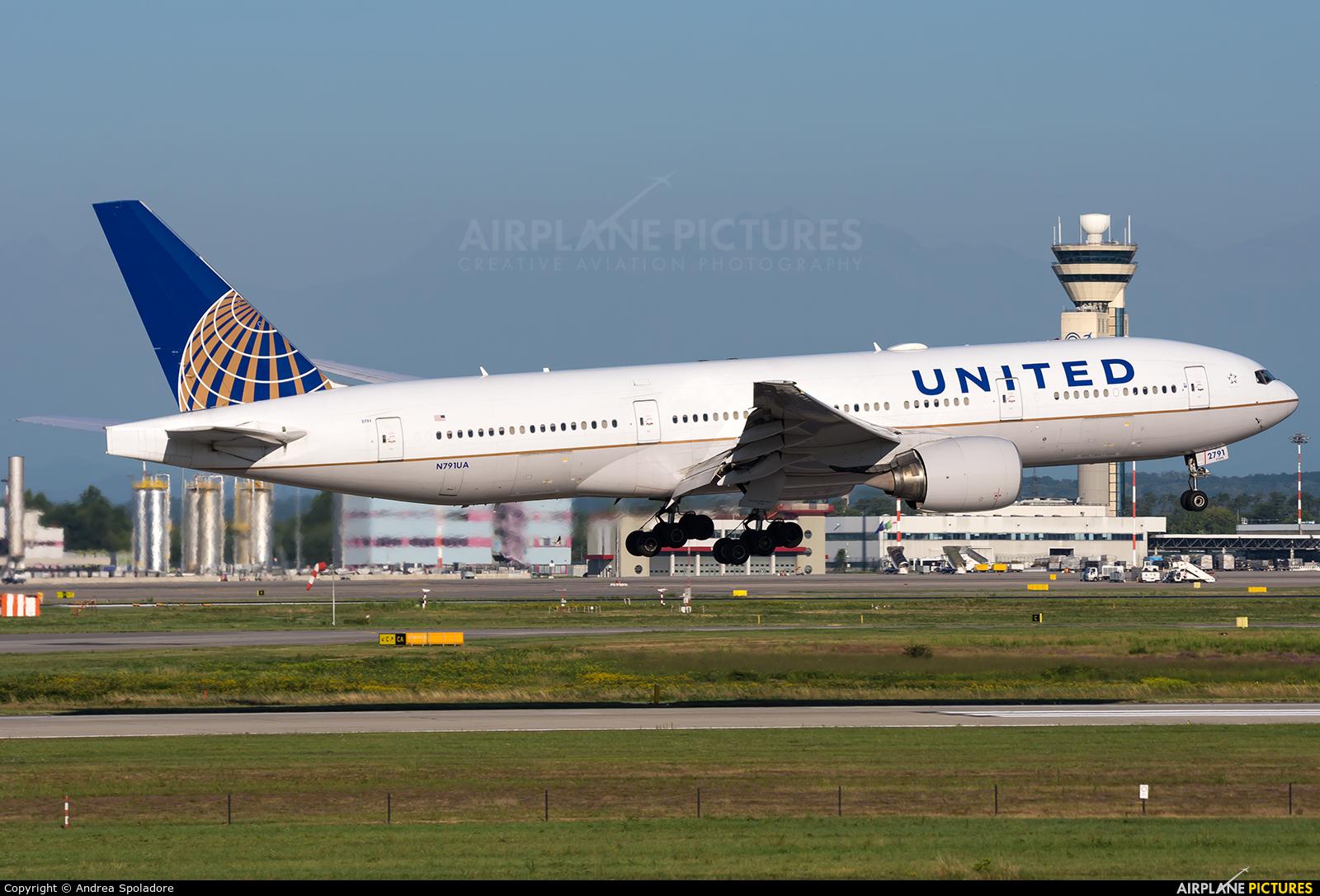 United Airlines N791UA aircraft at Milan - Malpensa