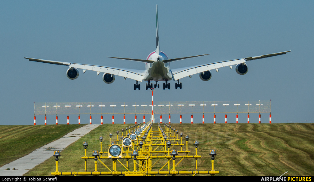 Emirates Airlines A6-EUD aircraft at Vienna - Schwechat