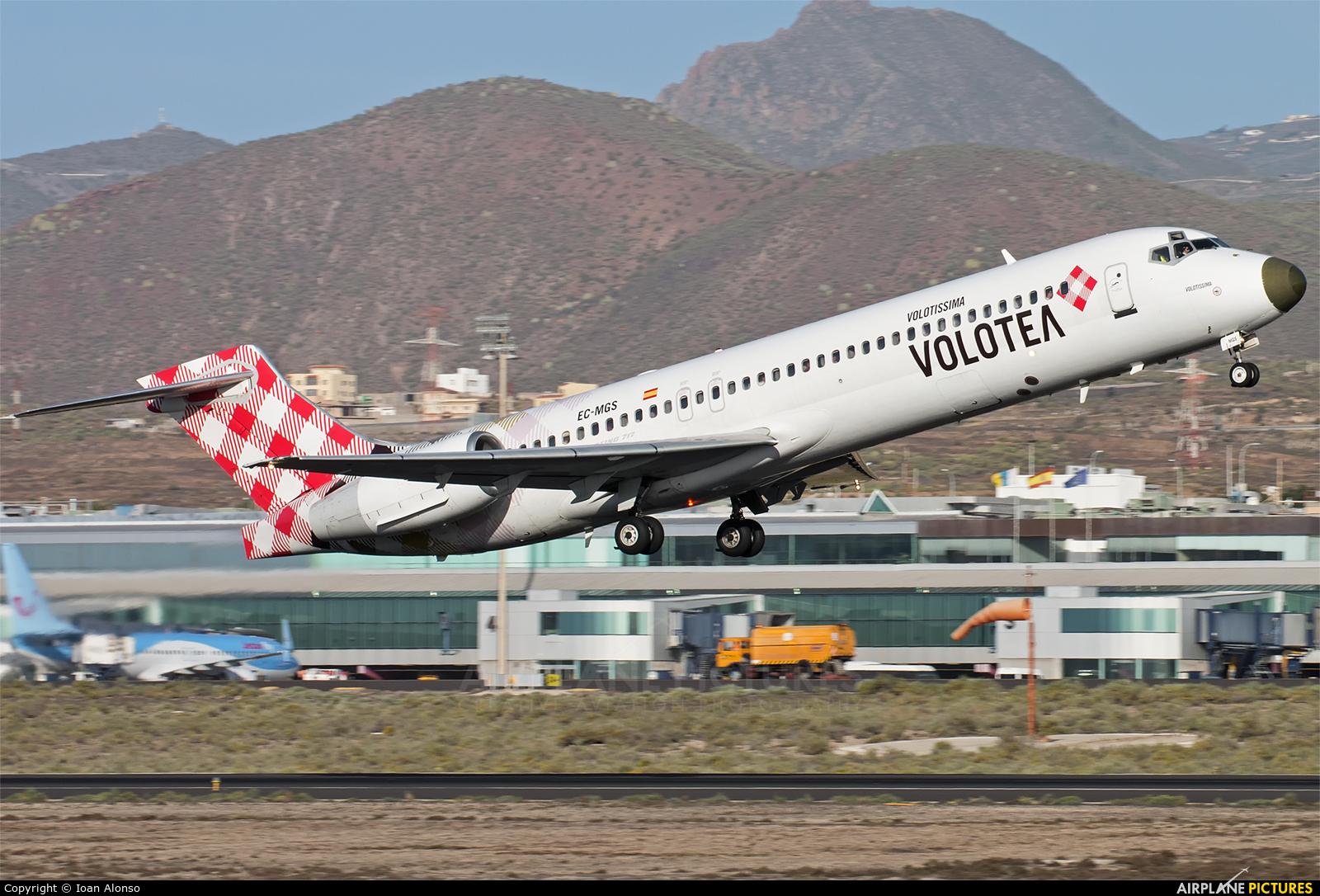 Volotea Airlines EC-MGS aircraft at Tenerife Sur - Reina Sofia