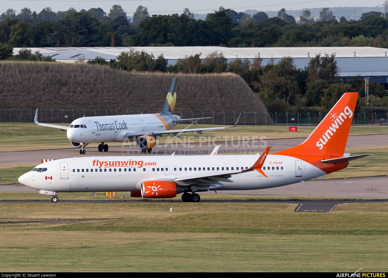 Sunwing Airlines C-FEAK aircraft at Birmingham