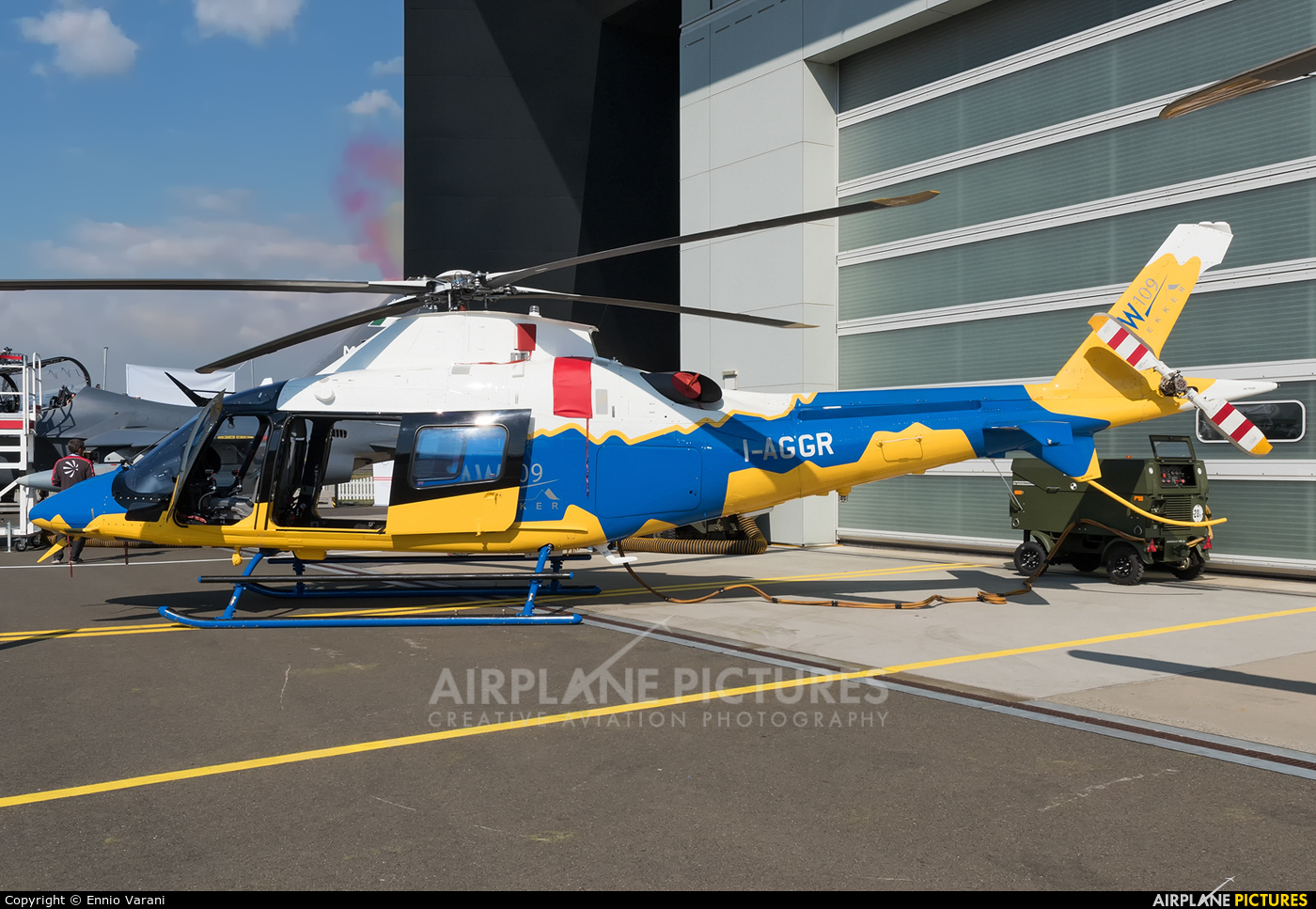 Agusta Westland I-AGGR aircraft at Zeltweg