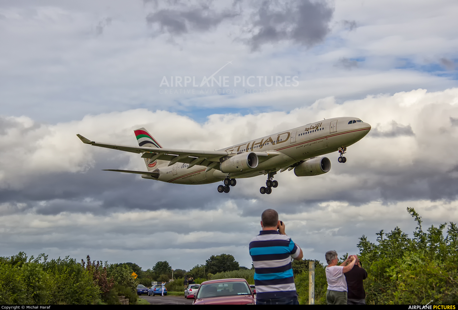 Etihad Airways A6-EYG aircraft at Dublin