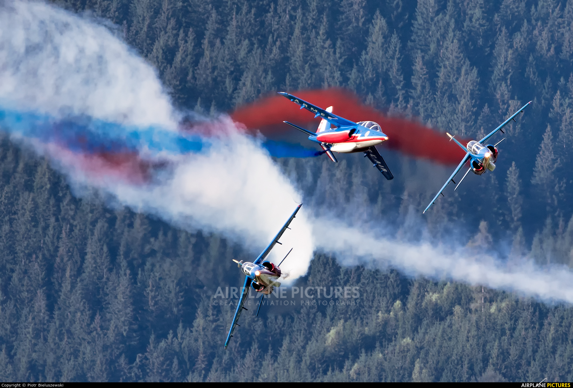 "France - Air Force ""Patrouille de France"" - aircraft at Zeltweg"