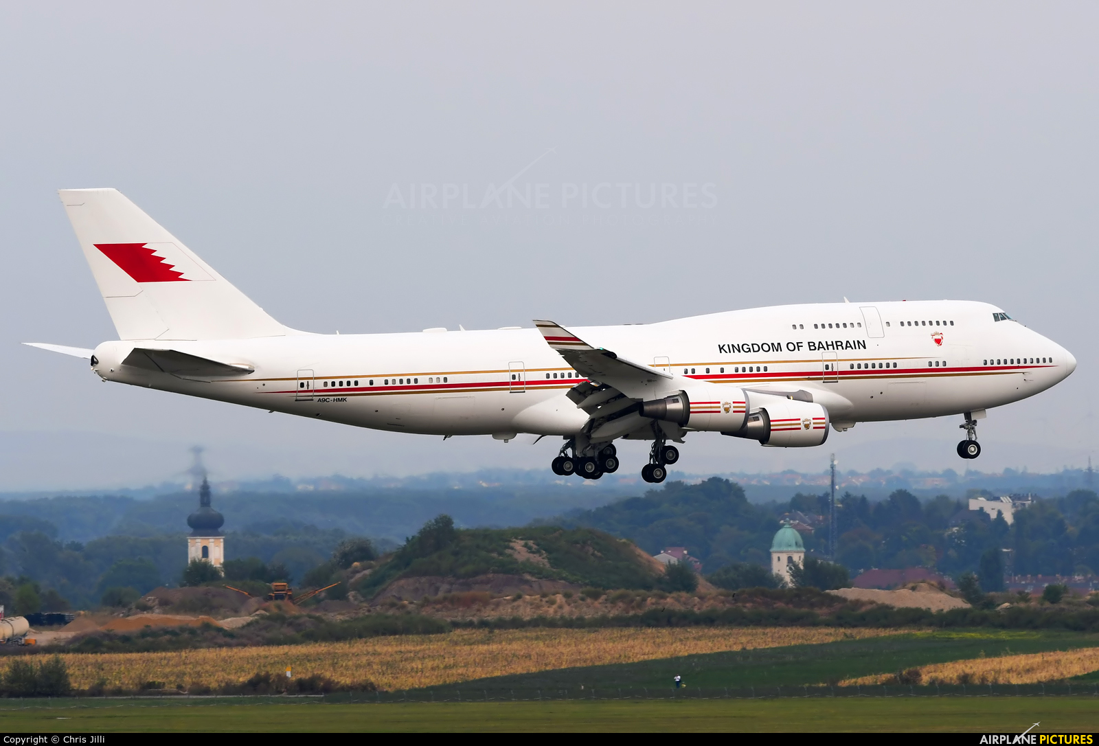 Bahrain Amiri Flight A9C-HMK aircraft at Vienna - Schwechat
