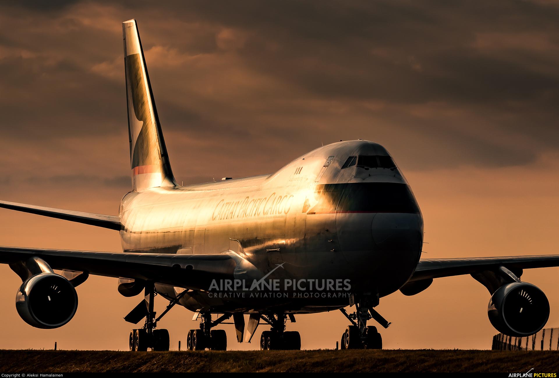Cathay Pacific Cargo B-LIB aircraft at Amsterdam - Schiphol