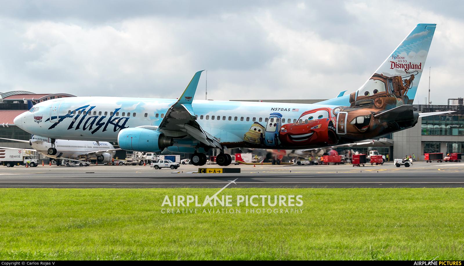 Alaska Airlines N570AS aircraft at San Jose - Juan Santamaría Intl
