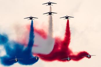 """- - France - Air Force """"Patrouille de France"""" Dassault - Dornier Alpha Jet A"""