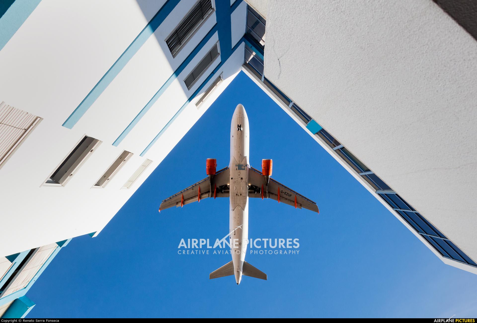 easyJet G-EZUF aircraft at Lisbon