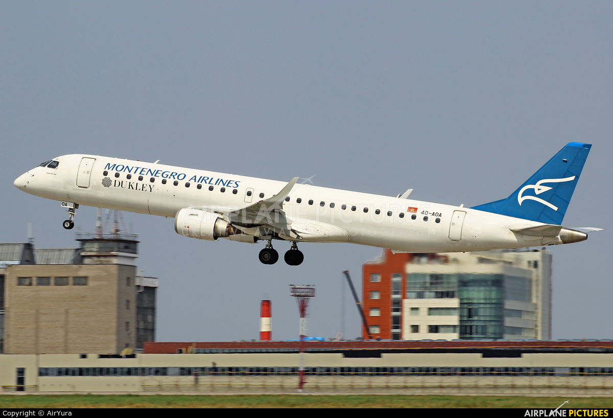 Montenegro Airlines 4O-AOA aircraft at Moscow - Domodedovo