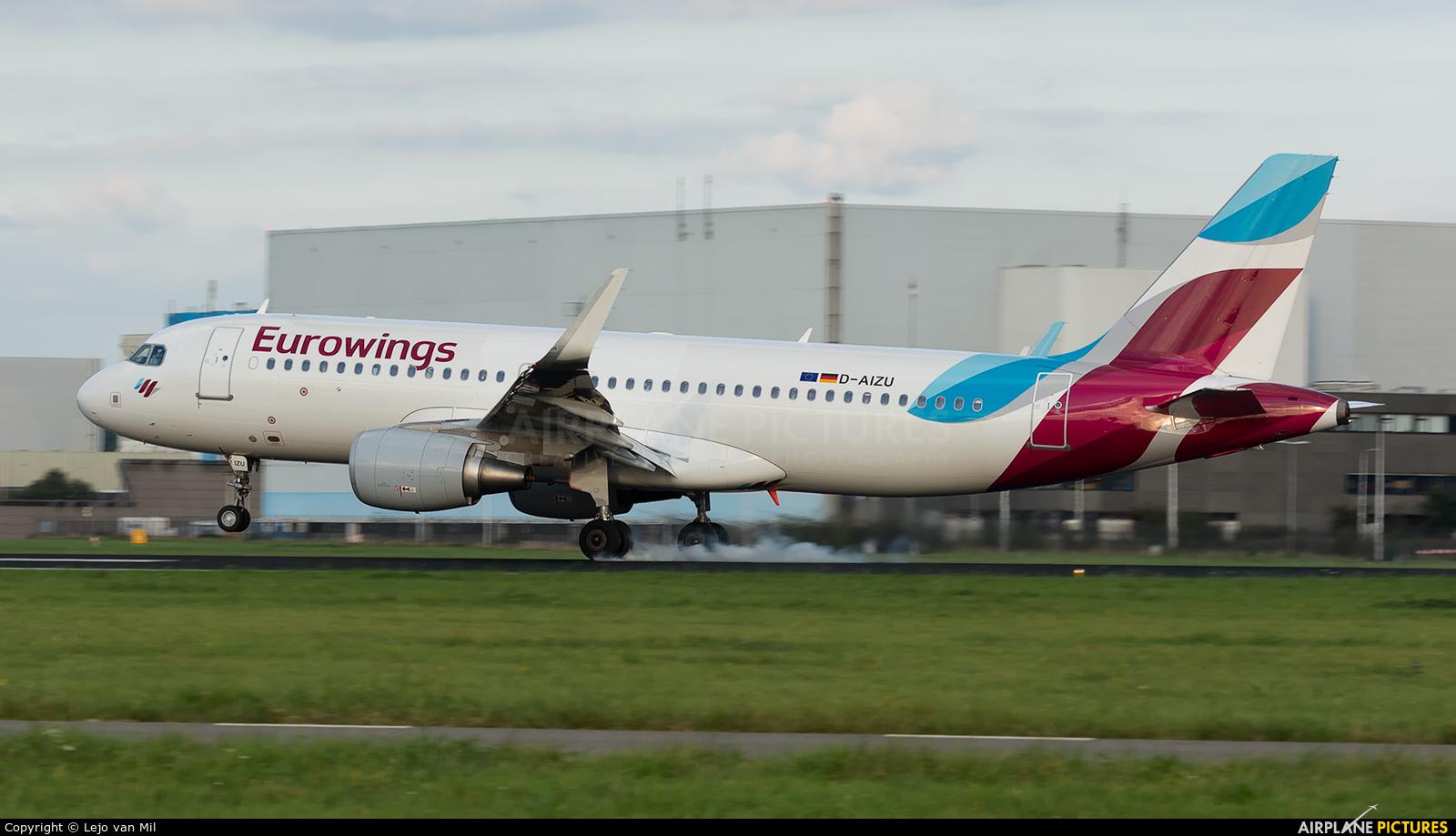 Eurowings D-AIZU aircraft at Amsterdam - Schiphol