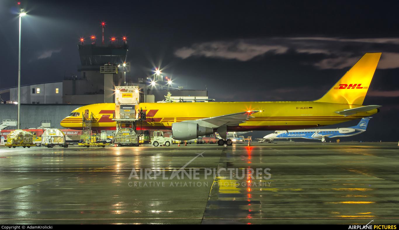 DHL Cargo D-ALEO aircraft at Katowice - Pyrzowice