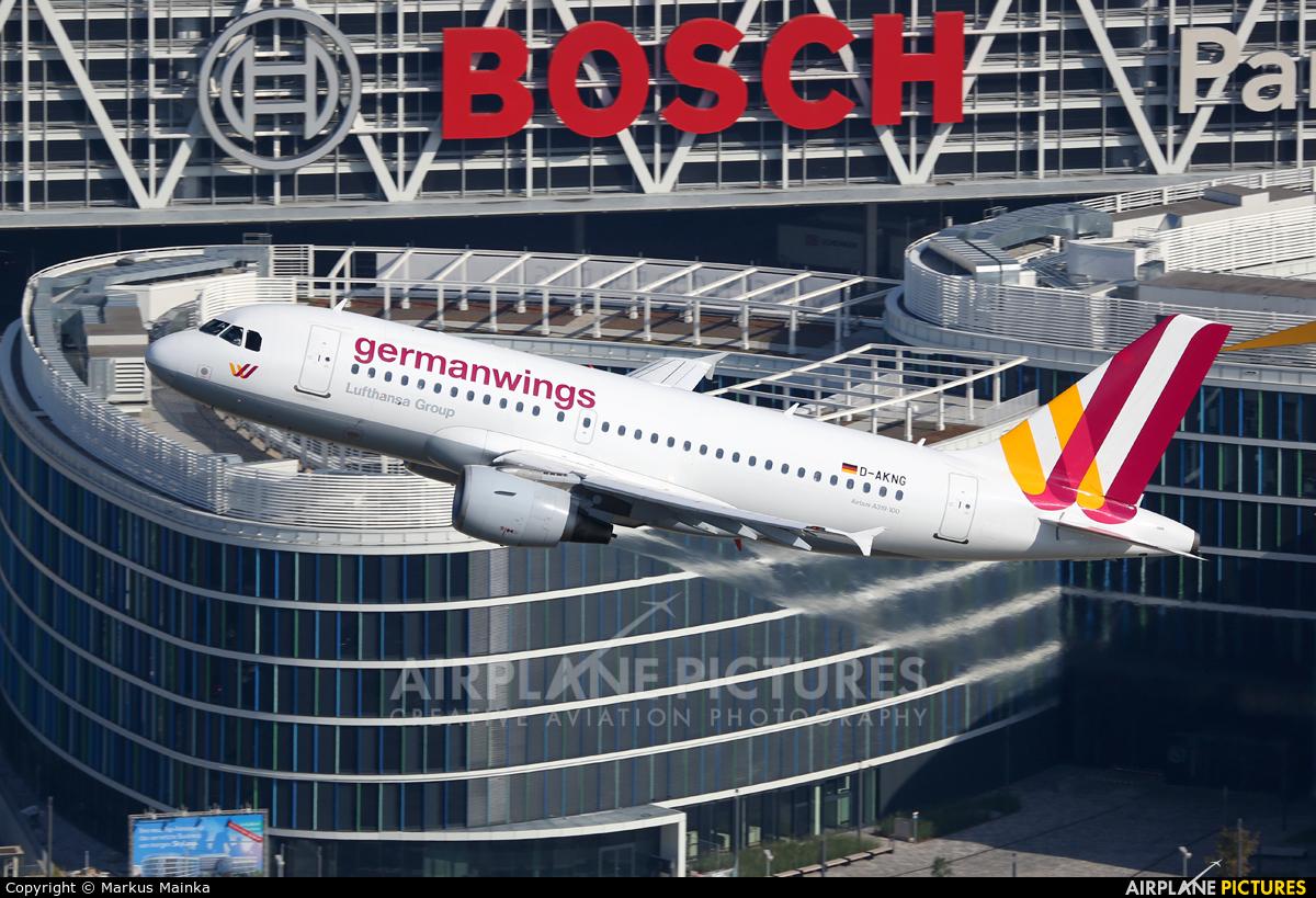 Germanwings D-AKNG aircraft at Stuttgart