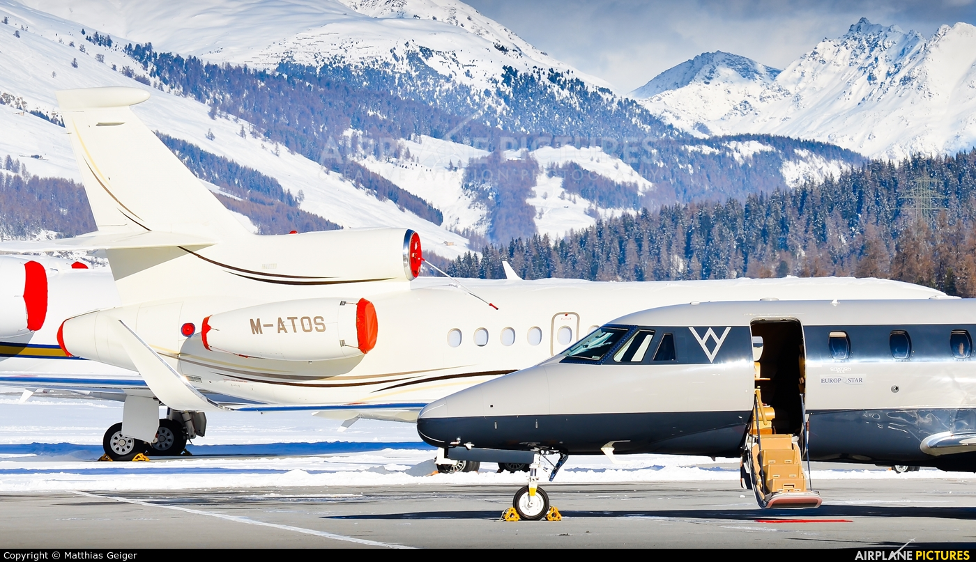 Private OE-GWV aircraft at Samedan - Engadin