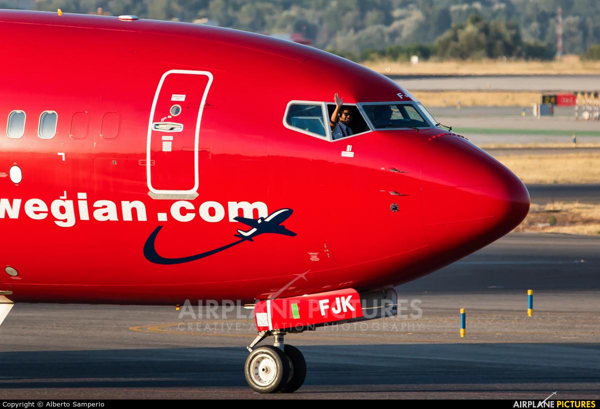 Norwegian Air International EI-FJK aircraft at Madrid - Barajas