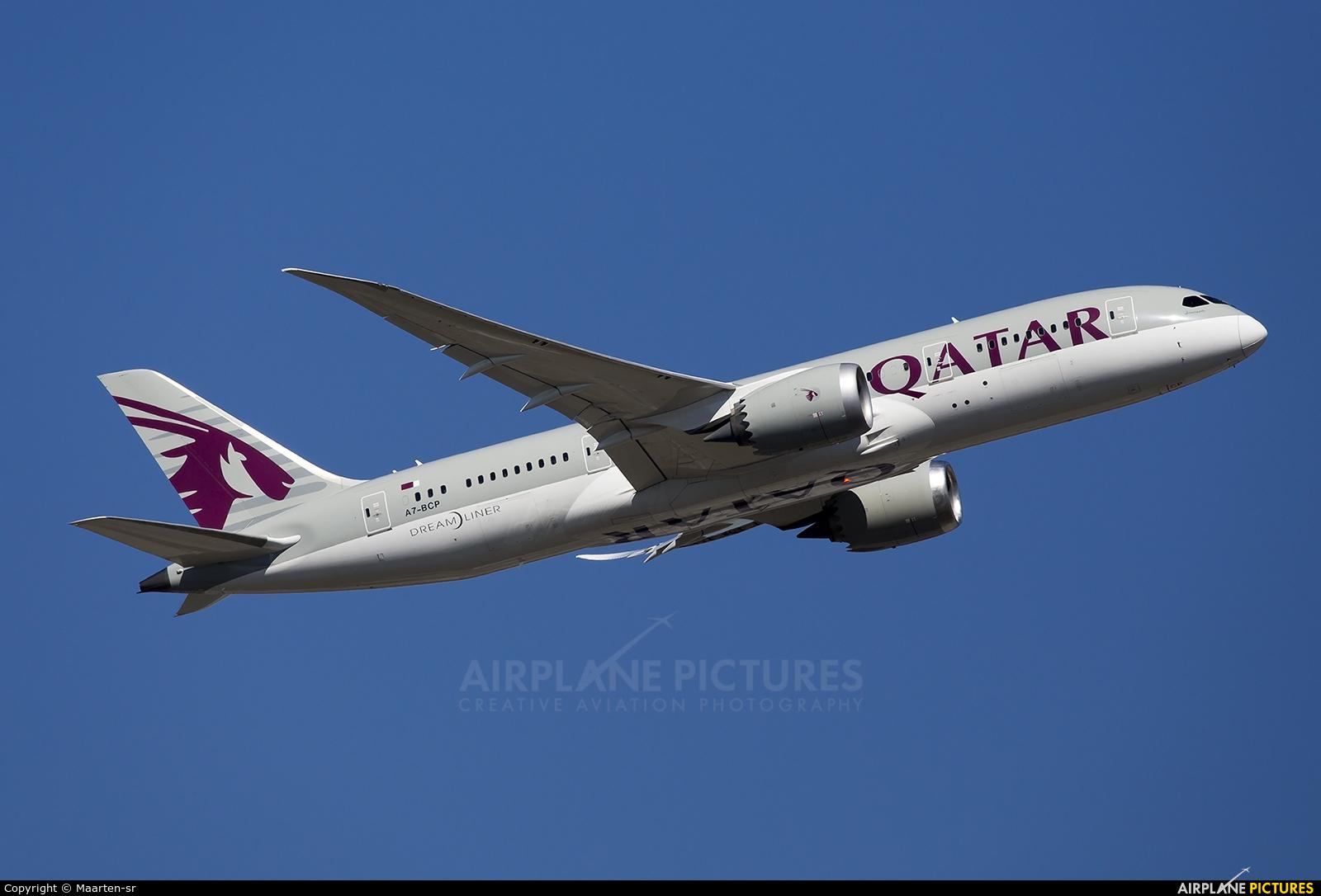 Qatar Airways A7-BCP aircraft at Frankfurt