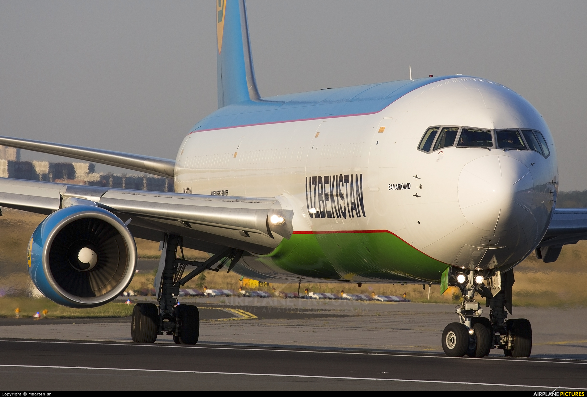 Uzbekistan Airways UK67001 aircraft at Frankfurt